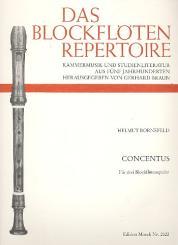 Bornefeld, Helmut: Concentus für 3 Blockflötenspieler