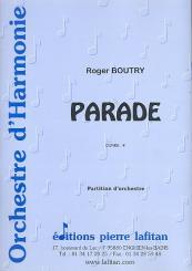 Boutry, Roger: Parade pour orchestre d'harmonie, partition et parts