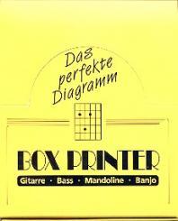 Boxprinter Display 12 Griffbrettstempel für Gitarre