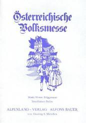 Brüggemann, Werner: Österreichische Volksmesse für flexibles Ensemble (Chor ad lib), Partitur