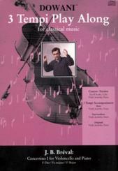 Bréval, Jean Baptiste: Concertino F-Dur für Violoncello und Klavier CD mit dem Original und, der Klavierbegleitung in 3 Tempi