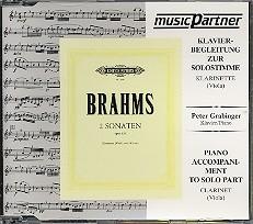 Brahms, Johannes: 2 Sonaten op.120 CD mit der Klavierbegleitung zur, Soloklarinette (SoloViola)