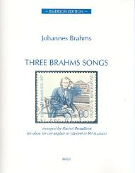Brahms, Johannes: 3 Brahms Songs for oboe (cor anglais/clarinet) and piano