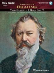 Brahms, Johannes: Music Minus One Violin Concerto D major op.77 (+CD) for violin and orchestra
