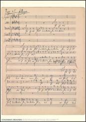 Brahms, Johannes: Poster der Motette 'Es ist das Heil uns kommen her' op.29,1 (Faksimile) 60x84 cm