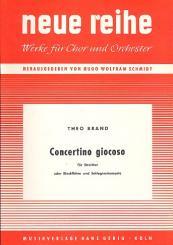 Brand, Theo: Concertino giocoso für Streicher (Blockflöten) und Schlaginstrumente, Partitur