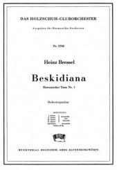 Bressel, Heinz: Beskidiana für Akkordeonorchester, Partitur