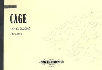 Cage, John: Song Books Instructions