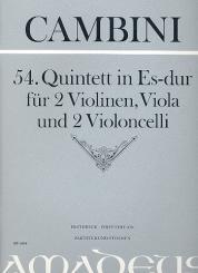 Cambini, Giuseppe Maria Gioaccino: 54. Quintett in Es-dur für 2 Violinene/Viola/2Violoncelli, Partitur und Stimmen