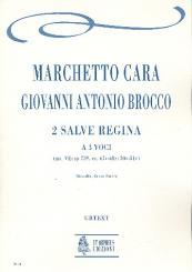 Cara, Marchetto: 2 Salve regina a 3 voci partitura