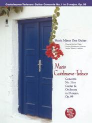 Castelnuovo-Tedesco, Mario: Music Minus One Guitar Concerto d major no.1 op.99 for guitar, and orchestra (book+CD)