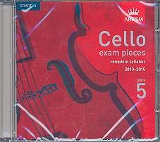 Cello Exam Pieces Grade 5 CD complete syllabus 2010-2015