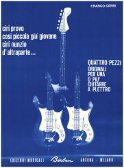 Cerri, Franco: 4 Pezzi per una o piu' chitarre a plettro, partitura