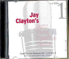 Clayton, Jay: Jazz vocal Practice Series 1 CD vocal exercise workout 1+2, warm up and improve your chops
