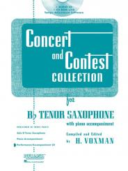 Concert and Contest Collection for Tenor Saxophone CD