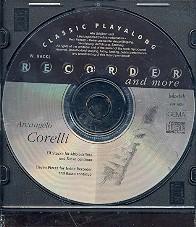 Corelli, Arcangelo: 11 Stücke für Altblockflöte und Bc CD zu VHR3654