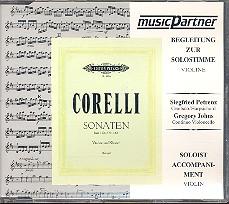 Corelli, Arcangelo: Sonaten aus op.5 Band 1 CD mit der Begleitung zur Solovioline