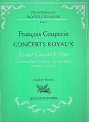 Couperin, Francois (le grand) *1668: Concerts Royaux Second Concert F-Dur für Altblockflöte unb bc.
