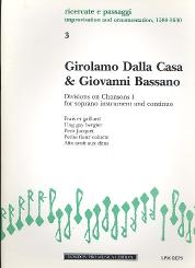 Dalla Casa, Girolamo: Divisions on Chansons vol.1 for treble instrument and bc