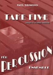 Desmond, Paul: Take five für Percussion-Ensemble Partitur und Stimmen