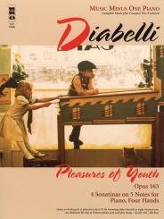 Diabelli, Anton: PLEASURES OF YOUTH OP.163 (+CD) FOR PIANO 4 HANDS