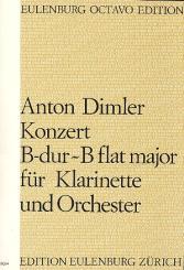 Dimler, Anton: Konzert B-Dur für Klarinette und Orchester, Partitur