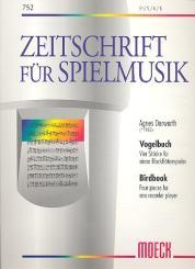Dorwarth, Agnes: Vogelbuch 4 Stücke für einen Blockflötenspieler (wechselnde, Besetzung) SSINOAB