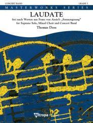 Doss, Thomas: 1962-18-010M Laudate für Blasorchester, Partitur und Stimmen