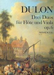 Dulon, Friedrich Ludwig: 3 Duos op.6 für Föte und Viola