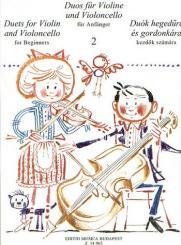 Duos für Anfänger Band 2 für Violine und Violoncello