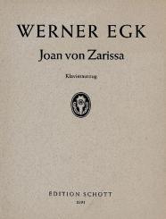 Egk, Werner: Joan von Zarissa Klavierauszug Ballett