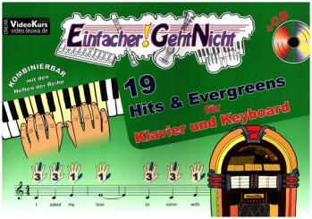 Einfacher geht nicht - 19 Hits und Evergreens (+CD) für Klavier (Keyboard) (+Text)