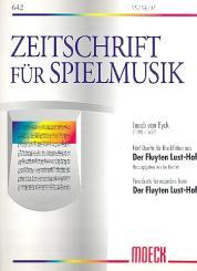 Eyck, Jacob van: Der Fluyten Lusthof 5 Duette für 2 Blockflöten (SS, SA, AT)