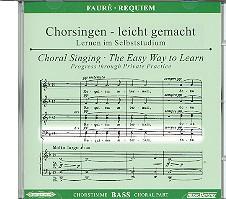 Fauré, Gabriel Urbain: Requiem op.48 CD Chorstimme Bass und Chorstimmen ohne Bass