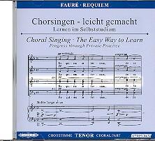 Fauré, Gabriel Urbain: Requiem op.48 CD Chorstimme Tenor und Chorstimmen ohne Tenor