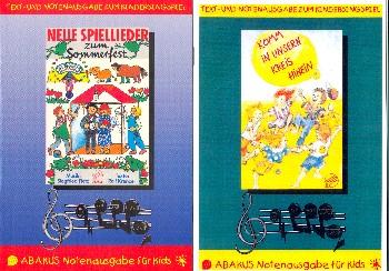 Fietz, Siegfried: Neue Spiellieder zum Sommerfest  und  Komm in unsern Kreis hinein 2 Kindersingspiele, Set Lieder- und Texthefte