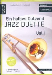 Fischer, Hans-Jörg: Ein halbes Dutzend Jazzduette Band 1 (+Download) für 2 Posaunen, Spielpartitur,  Neuausgabe 2012