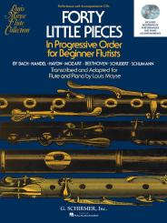 Forty Little Pieces In Progressive Order for Beginnner Flutists for flute and piano, 2 CD's