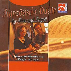 FRANZOESISCHE DUETTE FUER FLOETE UND FAGOTT CD, LIEBERKNECHT, ANDREA, FLOETE