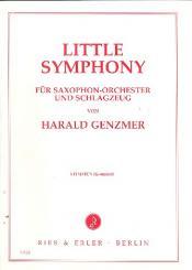Genzmer, Harald: Little Symphony für Saxophonorchester und Schlagzeug, Stimmen komplett