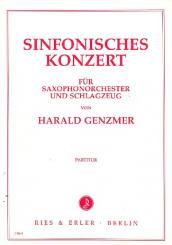 Genzmer, Harald: SINFONISCHES KONZERT FUER SAXO- PHONORCHESTER UND SCHLAGZEUG, PARTITUR