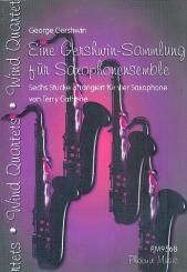 Gershwin, George: Eine Gershwin-Sammlung für 4 Saxophone (Ensemble), Partitur und Stimmen