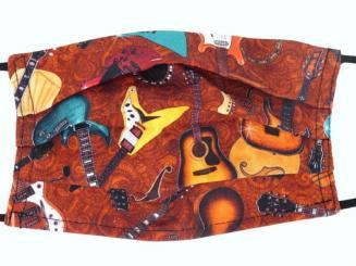 Gesichtsmaske mit Musik Design 30 - Gitarre/E-Gitarre 18,5 x 9,5 cm
