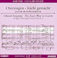 Gounod, Charles Francois: Cäcilienmesse CD Chorstimme Alt und Chorstimmen ohne Alt
