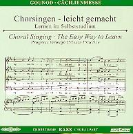 Gounod, Charles Francois: Cäcilienmesse CD Chorstimme Bass und Chorstimmen ohne Bass