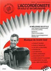 Graf, André: L'accordeoniste vol.1 10 melodies de style