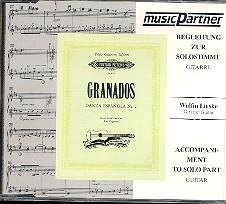 Granados, Enrique: Danza espagnola Nr.2 für 2 Gitarren, CD-Begleitung zur Solostimme