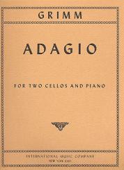 Grimm, Karl: Adagio G major for 2 violoncellos and piano