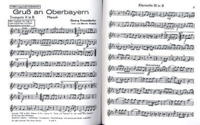 Gruß an Oberbayern  und  Amboss Polka: für Blasorchester