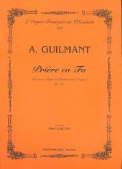Guilmant, Felix Alexandre: Priere en Fa pour piano et harmonium (orgue), partition